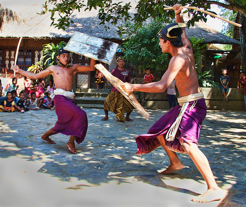 The Real Deal. Peresean / Stick Fighting  ~ Pujut Village. Central Lombok, Indonesia 2010