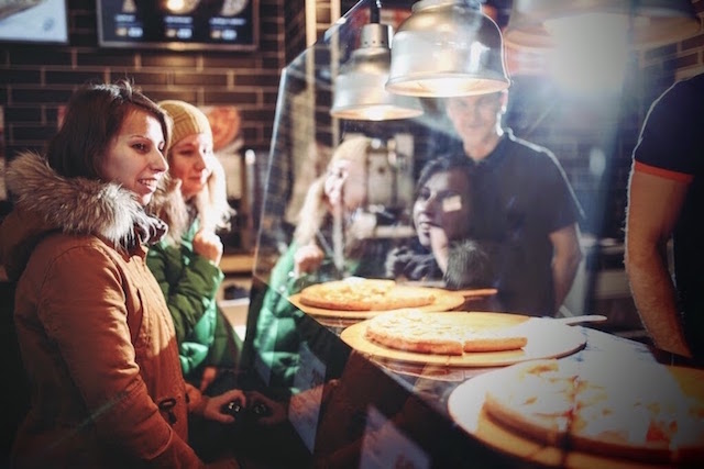 Подробнее о пицце кусочками: dodocoffee.ru